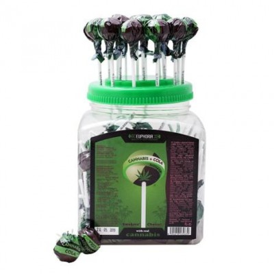 Euphoria Cannabis Cola Lollipops 12g x 100pcs