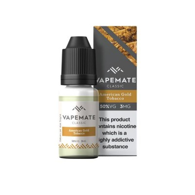 Vapemate Classic - 10ml - American Gold Tobacco