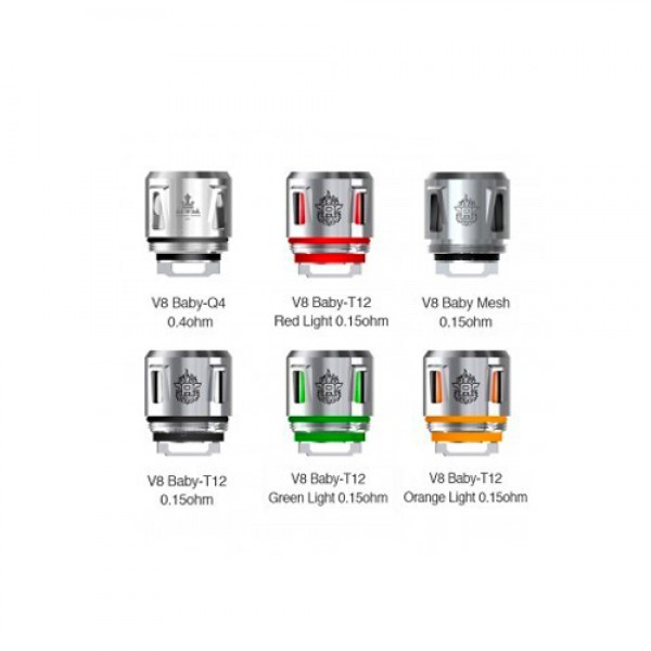 SMOK TFV8 Baby Coils T12 0.15ohm  LED -  5 Pack