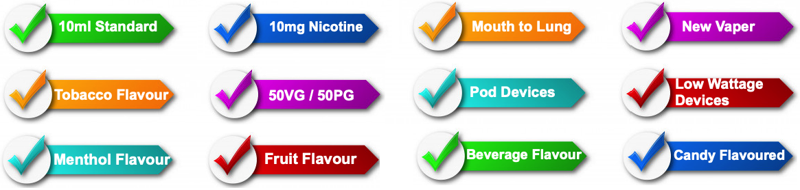 10mg Chief of Vapes Nic salts fruit flavour, tobacco flavour