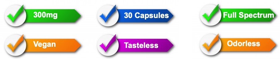 CBDLife 300mg Raw Hemp Capsules